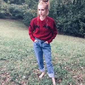 Vintage 90s wool blend boathouse moose sweater